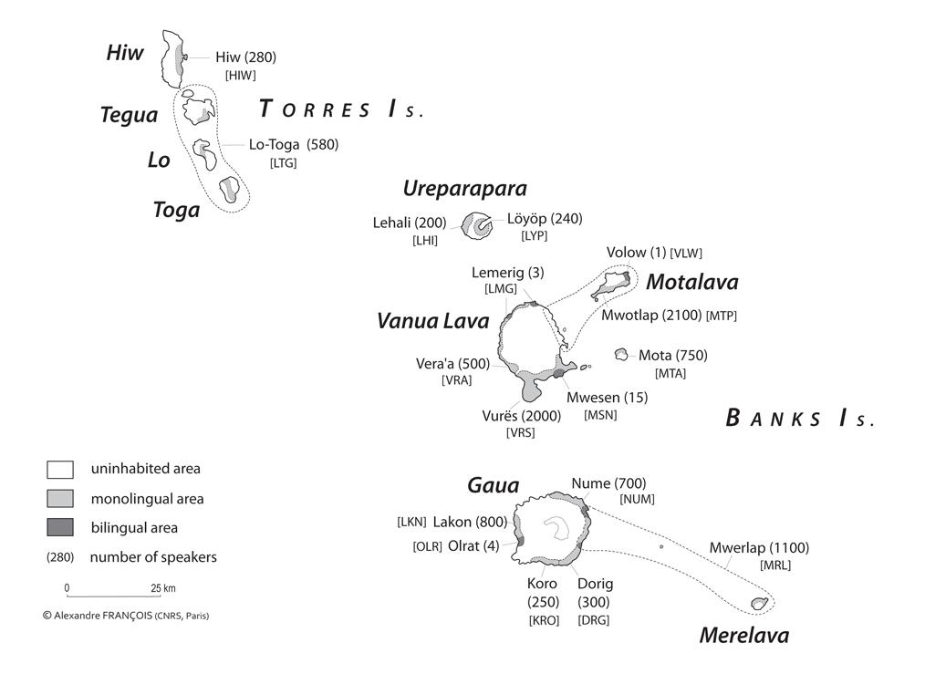 Languages of the Torres–Banks islands, north Vanuatu.